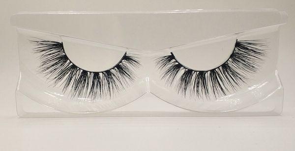 3D Mink False Eyelashes 100% Mink Fur Long Thick Hand-made Reusable Eyelashes Natural 1 Pair Pack MTL013