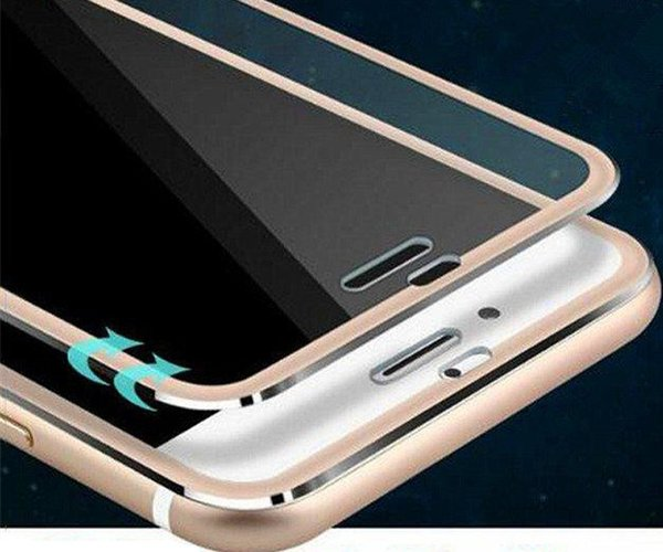 Titanium Alloy Metal Frame Screen Protector For Iphone XS MAX XR X 8 7 6 6S Plus 3D Curved Edge Full Cover Tempered Glass Guard Film