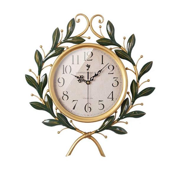 Acheter Horloge Murale Art Déco Créative Idyllique Horloge Muette Salon Maison Horloge Murale Rétro Décoration Chambre à Coucher De 11844 Du