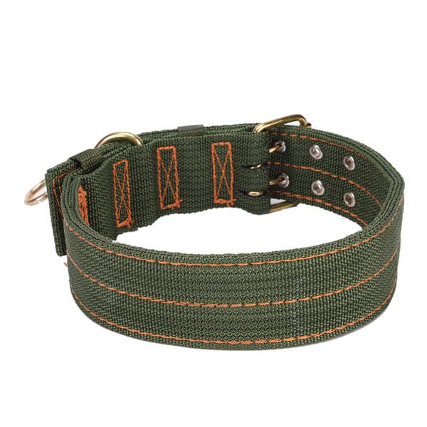 Collare del cane dell'animale domestico di L XL dell'esercito di dimensione di 1PCS per i grandi collari dei cani Collare doppio prodotti dell'animale domestico di disegno della fibbia di fila