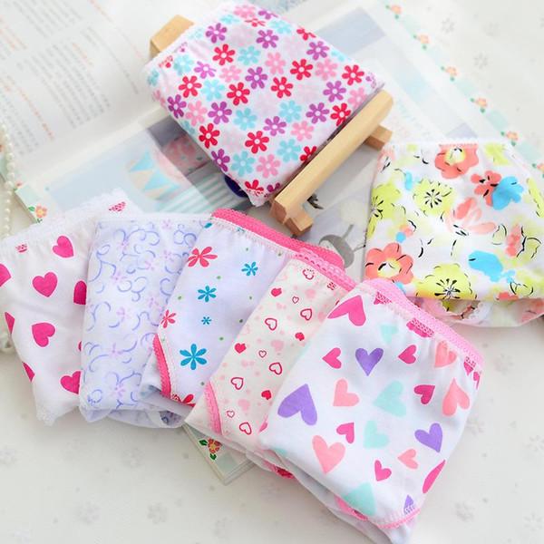 top popular 12pcs lot Cartoon Design Baby Girls Briefs Children Panties 12pcs Underwear Cotton Wear Flower Panties For Girl FW63978E 2019