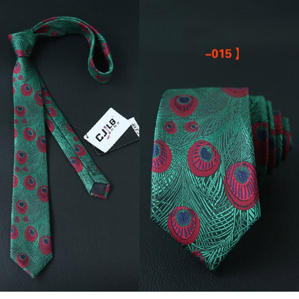 Commercio estero degli uomini 6CM Tie Wedding Dinner Retro Style Suit poliestere Peacock Feather Pattern Maschio Gentleman Cravatte Dress Accessori