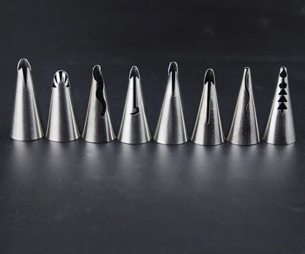 Wholesale Stainless Steel Russian Nozzle Piping Tips Pastry Nozzles Baby Doll Skirt Dress Cake Decorating Tools 8 shapes