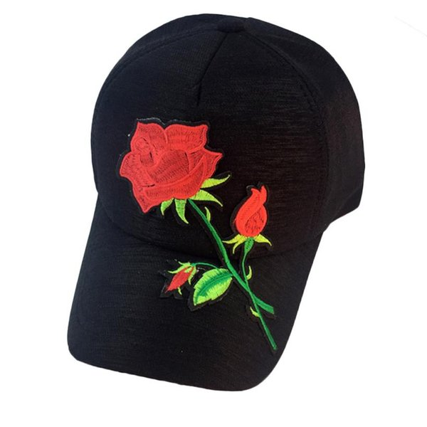 to buy official store 100% authentic 2017 Unisex Baseball Cap Women Men Lovely Applique Floral Baseball Cap  Casuan Snapback Flat Hat High Quality Casquette Gorras #5 Hats And Caps  Skull ...
