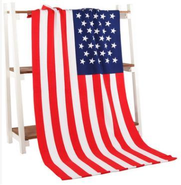 Serviette de plage été 2018 Nouveau Microfibre CA FLAG Serviettes de bain drapeau impression Serviette de plage adulte serviette fille rectangle uk USA DRAPEAU