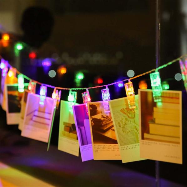 Photo Clip Led String light Personalized Wedding Decoration Starry Photo Holder String Light Birthday Party Christmas Decor