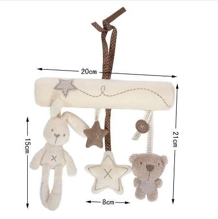 Creative Infants Cradle Cute Rabbit baby music hanging bed safety seat plush toy Hand Bell Multifunctional Plush Toys