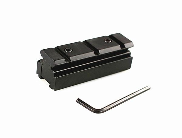 Taktik Siyah 11mm için 20mm Weaver Rail Kapsam Dağı Tüfek Baz Adaptörü Dönüştürücü