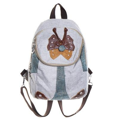 Fashion Butterfly Appliques Small National Shopping Backpacks!Hot Bohemian Cute Women backrack Vintage Versatile Canvas Packruck