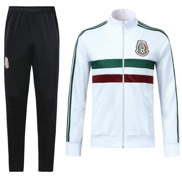 Best quality 2018 world cup MEXICO white green Full zip SOCCER jacket CHICHARITO LOZANO DOS SANTOS HERRERA LAYUN Mexico football kit