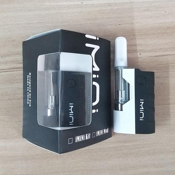 Hot imini Vape Mod Vape Kit Thick Oil Cartridges Vaporizer Kits Box Mod Vape Pen Kit 510 Thread Battery Glass Atomizer TH210 Tank