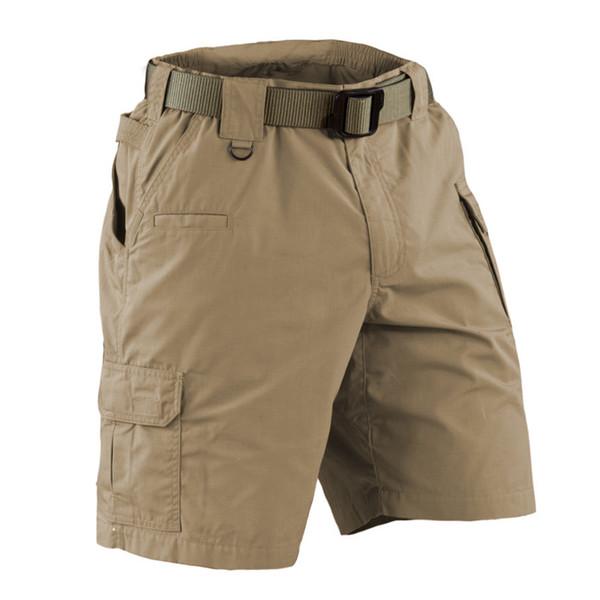 plus size  US army Multi-Pocket brand 73287 khaki cargo shorts men clothes 2018 tactical Knee Length workout male