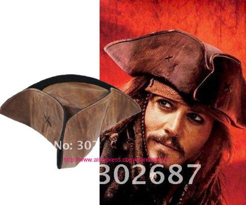 Jack Captain Cosplay Hat Wig Beard Tricorn Buccaneer Full Set Christmas Halloween Costume Accessories