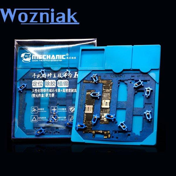 WOZNIAK para 6 6 P 6 S 6SP motherboard telefone reparação PCB Suporte da Lata com K10 Componentes pad