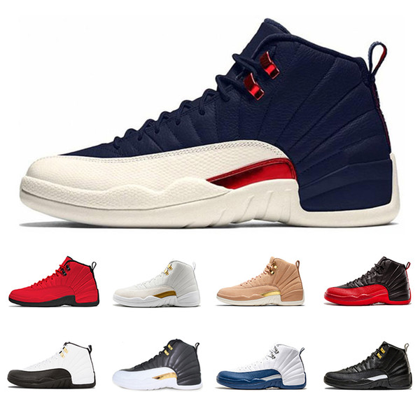 Retro Air Jordan 12 AJ12 New Man Chaussures de basket-ball sneaker 12 12 s Sport designer Entraîneur de chaussures WINGS Milan vol international Français discount zapatillas taille 8-13