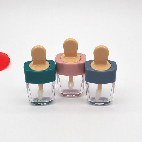 Colorful Empty DIY Lip Gloss Bottles Pink Green Orange Sweet Ice Cream Shape Cute Lipgloss Lipstick Tube for Girls 20pcs
