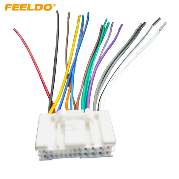FEELDO Car Audio Stereo Wiring Harness Adapter Plug For Hyundai/KIA(05~08)Factory OEM Radio CD/DVD Stereo #2732