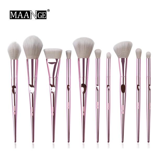 MAANGE 10Pcs Wet and Wild Makeup Brushes Set Powder Foundation Eye Shadow Blush Blending Cosmetics Beauty Make Up Brush Tool Kits