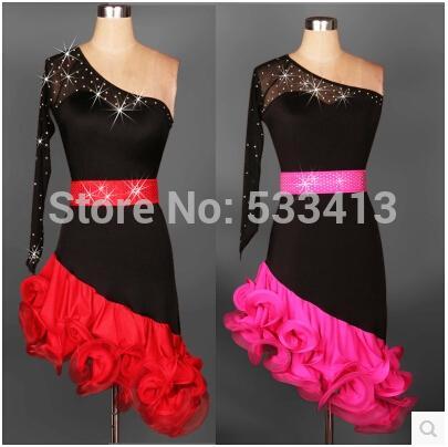 Costume da ballo latino anziano dianmond maniche corte vestito da ballo latino donne sexy garza abiti da concorso