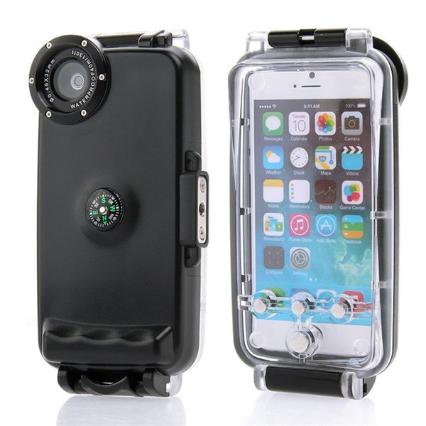 40m Diving Waterproof Case For Iphone 6 6s 4 .7inch High Quality Plastic Waterproof Phone Bag Cover For Swimming Fishing Sports