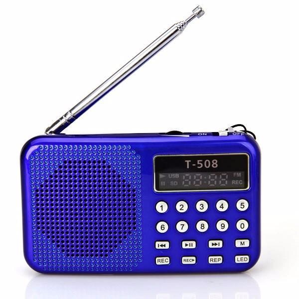 Hot sale Digital fm radio Micro SD/TF USB Disk mp3 radio LCD Display Internet with speaker T508