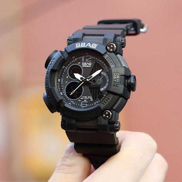 2018 neue Design Multifunktions-elektronische Smart Watch männliche Sportuhr Männer Stoppuhr Alarm Kalender Chronograph Schock Boy Clock