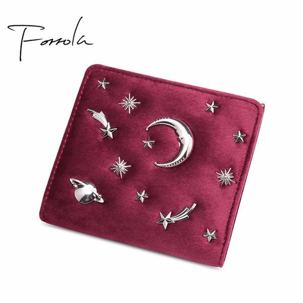 2018 Luxury Women Designer Velvet Wallet Small Zipper Change Coin Purse Credit Cards Holder Hasp Hot Female Clutch For Girls