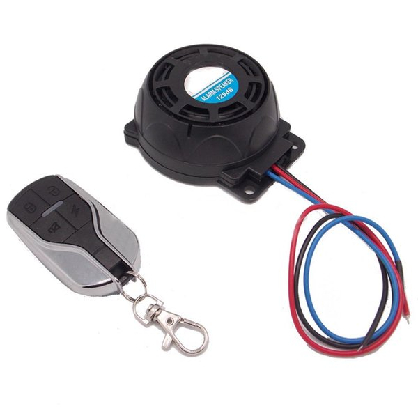 Fashion One Way Motorcycle Alarm Anti-theft Scooter Remote Alarm Moto Speaker Security System Motor Accessories Cheap Moto