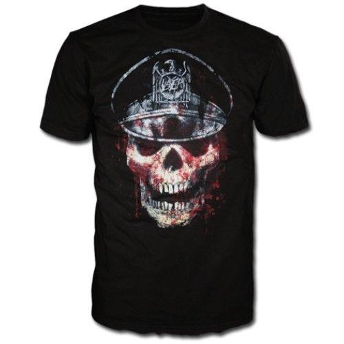 T-Shirt 2017 Slayer Skull Hat Shirt S M L XL Heavy Metal Official T-Shirt Metal Tshirt T-shirt Summer Tees