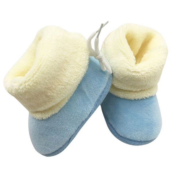 Trendy Newborn Kids Infant Toddler Crib Shoes Baby Girls Soft Soled Winter Candy Color Snow Boots Warm Soft