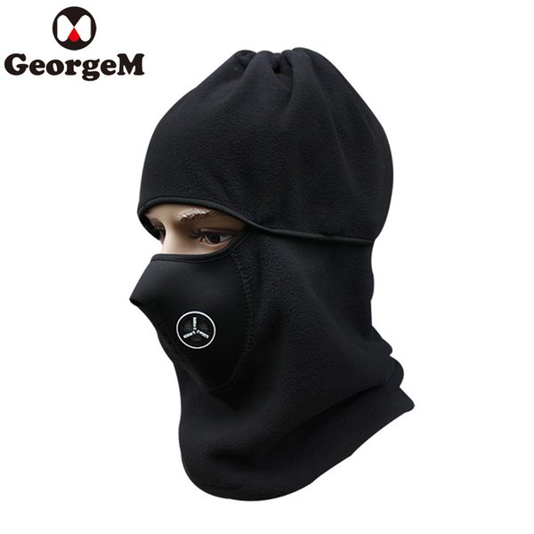 GEORGEM Face Mask Outdoor Half Face Mask Cover Winter Warm Fleece Neck Guard Cycling Sports Air Filter 3 Colors
