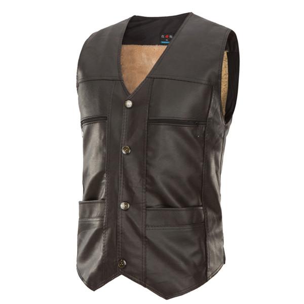 2018 Men'S Fashion Suit Vest Male pu Custom Made Sleeveless Suit Jacket Men Wedding Mens Dress Groom Vests Bestman