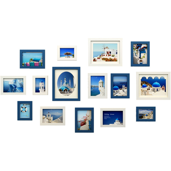 New Year Home Decoration Family Photo Frame Set, Cheap Photo Frames On The Wall, Wall Hanging Picture Frames For Wedding Photos