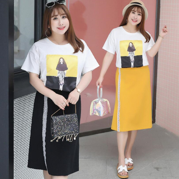 ChenKe 2018 Summer Big Size Office Laid Sets Women T Shirt+shorts Pants 2pices Loose Suit Set Fat Brand Casual OL Clothing