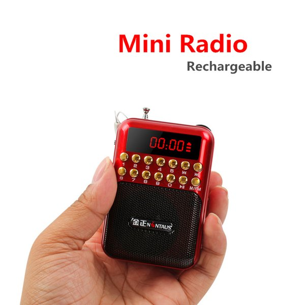 Factory Price 872 Portable Mini FM RAdio TF Card U-disk MP3 Player with 2200mAh Recharger Battery LED Screen Large volume Radio