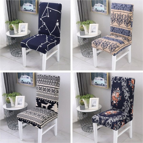 2018 40 styles Stretch Dining Chair Coves Floral Spandex Elastic Dining Stretch Chair Cover Removable Anti-dirty Party Hotel Banquet Chair