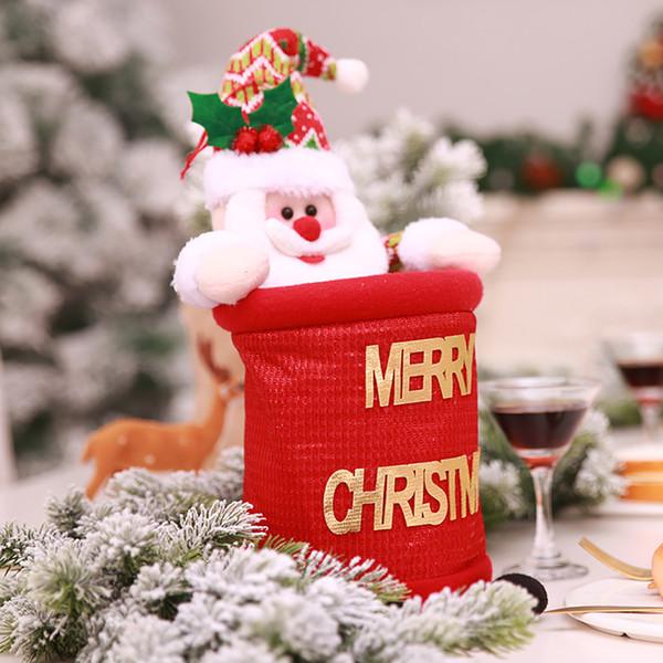 Hot Christmas Xmas Cloth Garbage Bin Car Home Storage Holder Santa Snowman Bathroom Trash Can Waste Basket Bag