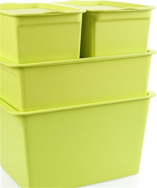 Grand nombre Boîte De Rangement Épaississement En Plastique Avec Couvercle Minimalisme Moderne Boîtes De Finition Robuste Multicolore Fonction 17 8zl3 jj