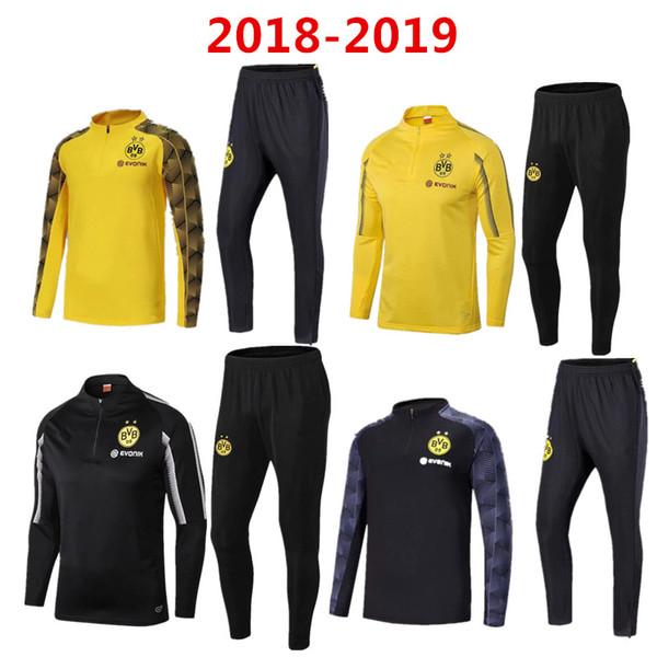 nuovo vestito da allenamento di calcio 2018 Dortmund di alta qualità 18 19 REUS PULISIC M.GOTZE Giacca da calcio Borussia sportswear set tuta