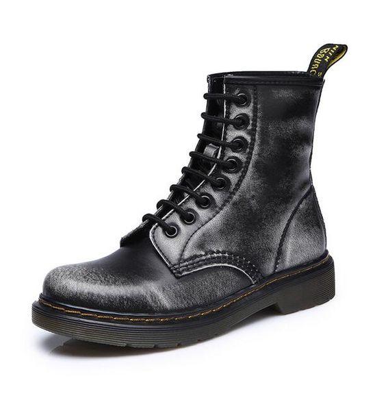 New Fashion paio casual avvio di marca di design di colore solido uomini e donne Lace-Up Martin stivali da donna Punk locomotiva bootssnow taglia 36-44