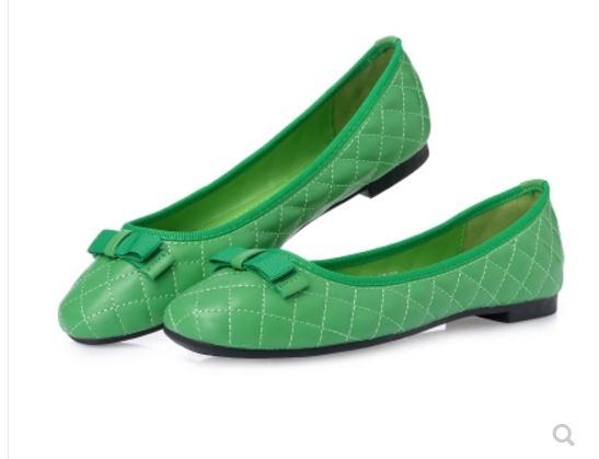 Free send Hot 2018 new style flat bottom bowknot square toes woman single shoes