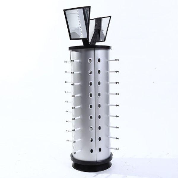 DROP envío 44pair gafas de sol gafas de rack de almacenamiento Soporte de exhibición estante de las lentes marco redondo con espejo