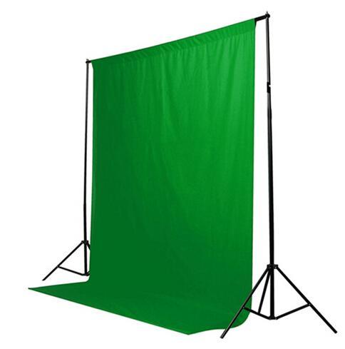 Sıcak Satış Yeşil Renk Pamuk olmayan kirletici Tekstil Muslin Fotoğraf Arka Stüdyo Fotoğrafçılığı Ekran Chromakey Zemin Kumaş