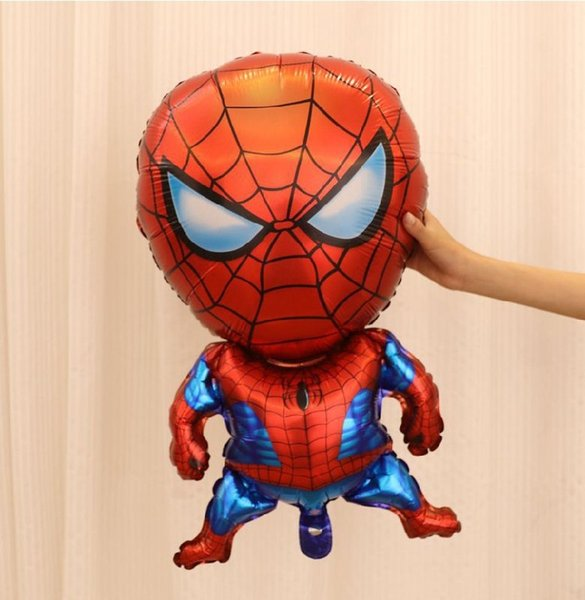 Big Size Aluminum Happy Spiderman Red Balloon for Wedding Birthday Party Decoration Cartoons Foil Balloon DHL Free