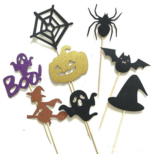 All Saints Day Halloween Cupcake Toppers Birthday Cake Toppers Wedding Favors Party Gifts Halloween Decorations Free DHL