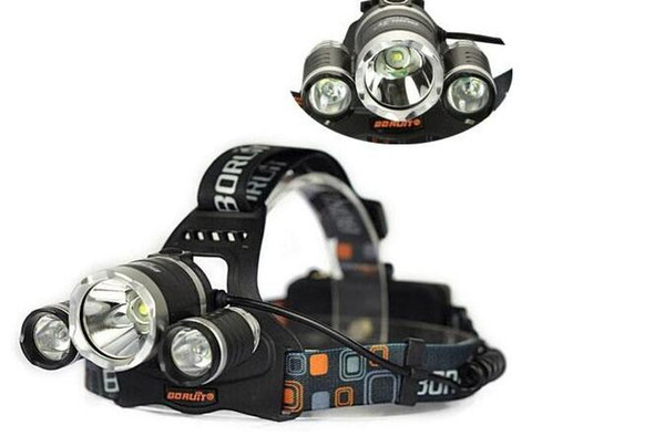 Melhor preço 5000 Lumen T6 + 2R5 Boruit Head Light Farol Cabeça Ao Ar Livre Lâmpada de Luz HeadLight Recarregável por 2x18650 Bateria de Pesca Camping