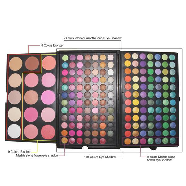 top popular 183-color eye shadow combination disc multi-color makeup disc, professional beauty makeup, European and American popular manufacturers direc 2019