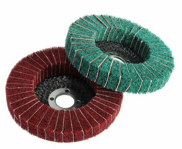 best selling Wholesale Free Shipping High Quality 100mm 120 240 Grit Nylon Fiber Wheel Abrasive Polishing Buffing Disc