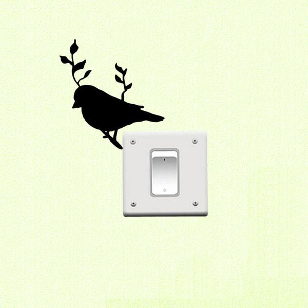 WANGZHIMING nouvelle bande dessinée DIY 3d stickers muraux pour les chambres d'enfants Oiseau sur la Direction pour les stickers muraux chambre home decor salon