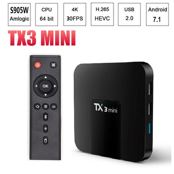 Amlogic S905W TX3 Mini TV Box 4K WiFi 2G DDR3 16G ROM H.265 HD Media Player TV Streaming Box TX3-mini